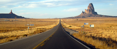 route vers monument valley