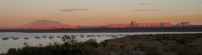 coucher de soleil sur lake powell