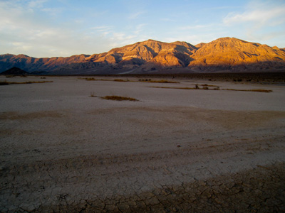 coucher de soleil sur death valley